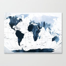 ALLOVER THE WORLD-Woods fog map Canvas Print