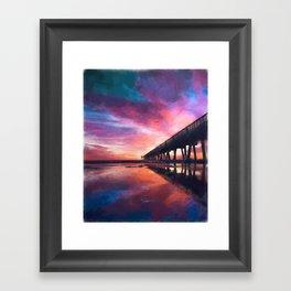 The Pier Sunset Framed Art Print