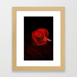 Electric Red Framed Art Print