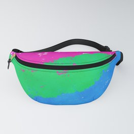 Splatter YOUR Colors - Polysexual Pride Fanny Pack