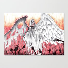 The wings of Death Canvas Print