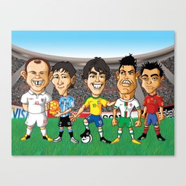 Football Stars Canvas Print