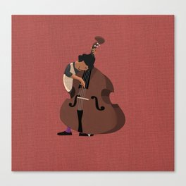 Jazz Trio - Bassist Canvas Print