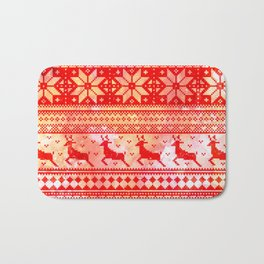 Reindeer Sweater Color Option Bath Mat