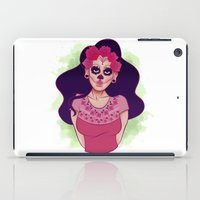 dia de los muertos iPad Cases featuring Dia De Los Muertos by Desirae