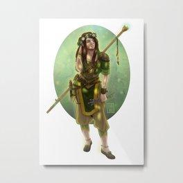 Druid Girl Metal Print