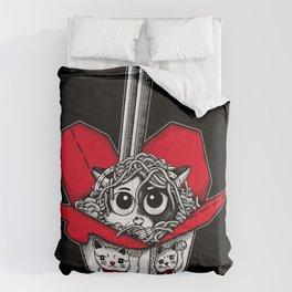 Lucky Cat Noodle Box Comforters