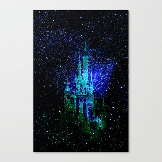 Dream castle. Fantasy Disney Canvas Print