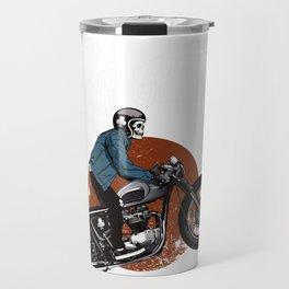 Mens I Am A Biker Grandpa graphic - Gift for Grandpas Motorbikes Travel Mug