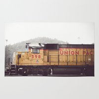 train Area & Throw Rugs featuring Train by Kristine Ridley Weilert