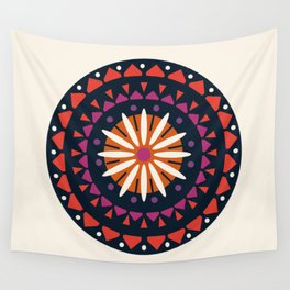 You Know - abstract 70s floral mandala trendy 1970s art minimal retro sun Wall Tapestry