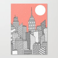 skyline Canvas Prints featuring Skyline  by  Steve Wade ( Swade)