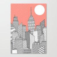 skyline Canvas Prints featuring Skyline  by  Steve Wade (Swade)