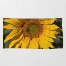 Lively Sunflower Beach Towel