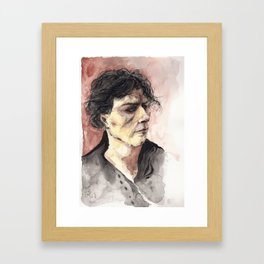 Portrait d'un jeune homme arrogant Framed Art Print
