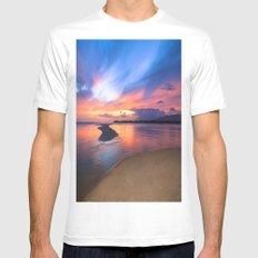 Paradise Sunset 8 Mens Fitted Tee MEDIUM White