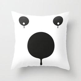 bear dissolved Throw Pillow