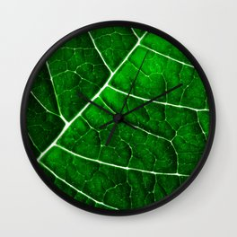 LEAF STRUCTURE GREENERY Wall Clock