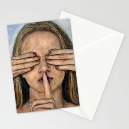Silence in the Dark  Stationery Cards