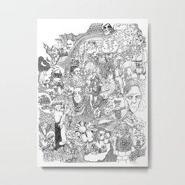 EPIC 25 Doodle art Metal Print