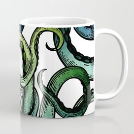 Octopus, Ocean Bue, Sea Green, Tentacles Coffee Mug