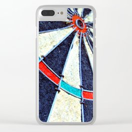 Dartboard Clear iPhone Case