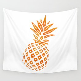 Orange Swirl Pineapple - Single Wall Tapestry