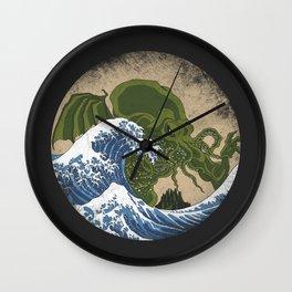 Hokusai Cthulhu Wall Clock