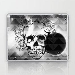 bw space skull  Laptop & iPad Skin