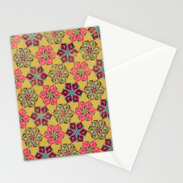 Origami Flower - mustard Stationery Cards