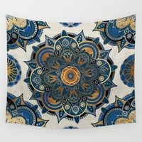 mandala Wall Tapestries featuring Mandala by Mantra Mandala
