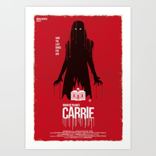 Carrie (Red Collection) Art Print