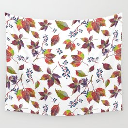 Autumn Grapes Wall Tapestry