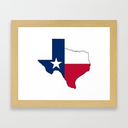 Texas Flag Framed Art Print
