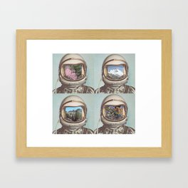 Mystery creates wonder and wonder is the basis of man's desire to understand.  Framed Art Print