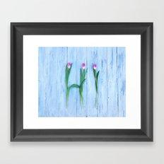 Hello Tulips Framed Art Print