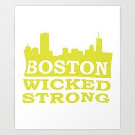 Boston Wicked Strong Marathon Boston Marathon Boston run Art Print