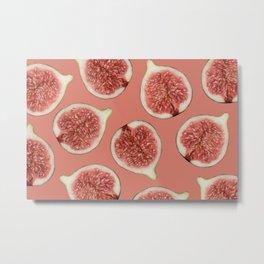 big Figs Pattern coral Metal Print