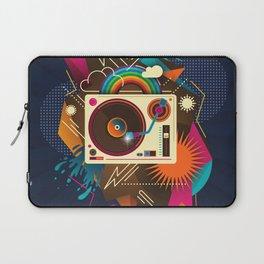 Goodtime Party Music Retro Rainbow Turntable Graphic Laptop Sleeve