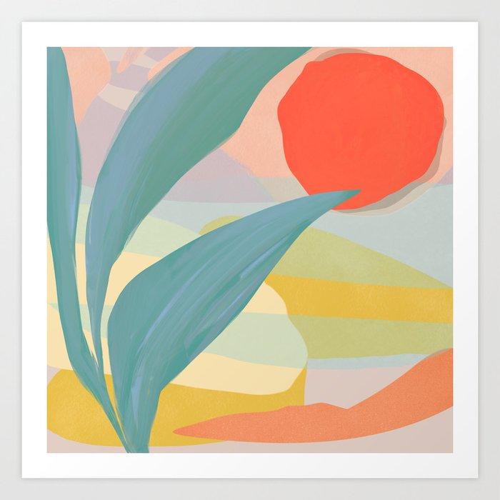 Shapes and Layers no.33 Art Print