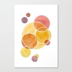 Blush Circles Geometric Canvas Print