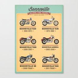 Bonneville Along the Years Canvas Print