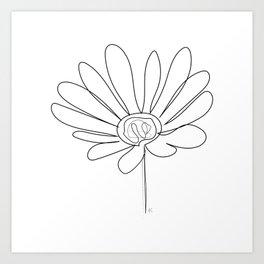 """ Botanical Collection "" - Gazania Flower Art Print"
