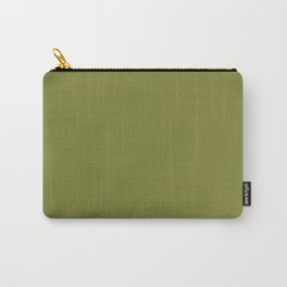 Olive Green Solid Color Carry-All Pouch