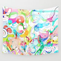pop art Wall Tapestries featuring Pop! by shadow chen