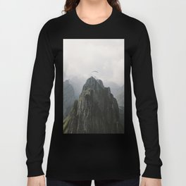 Flying Mountain Explorer - Landscape Photography Long Sleeve T-shirt