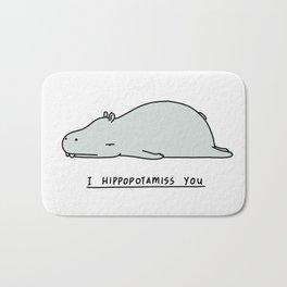 I Hippopotamiss You Bath Mat