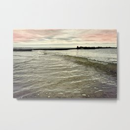 Sunset Crashing Metal Print