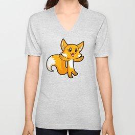 Fox; Animal Fable Unisex V-Neck