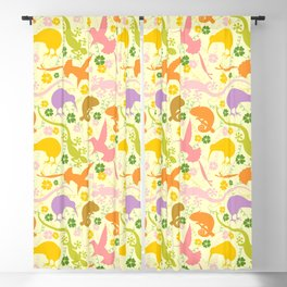 Animals Exotic Pastel Colors Shapes Pattern Blackout Curtain